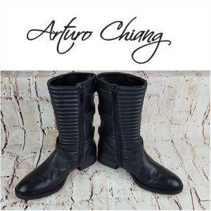 ARTURO CHIANG|Black SACHA Riding Boots Size 8M
